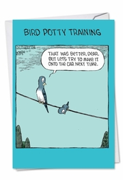 Bird Potty Training Card