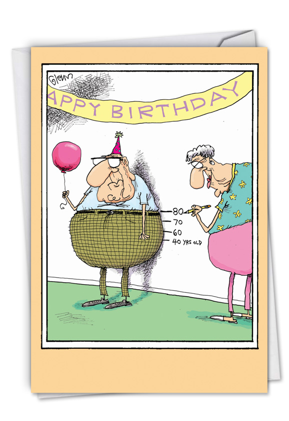 Birthday measurements cartoon humor greeting card glenn mccoy humorous birthday paper greeting card by glenn mccoy from nobleworkscards birthday measurements m4hsunfo