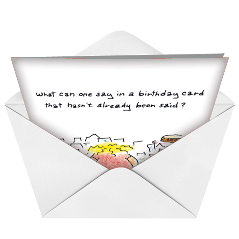 humorous birthday paper card by joseph kohl from nobleworkscardscom birthday new year image