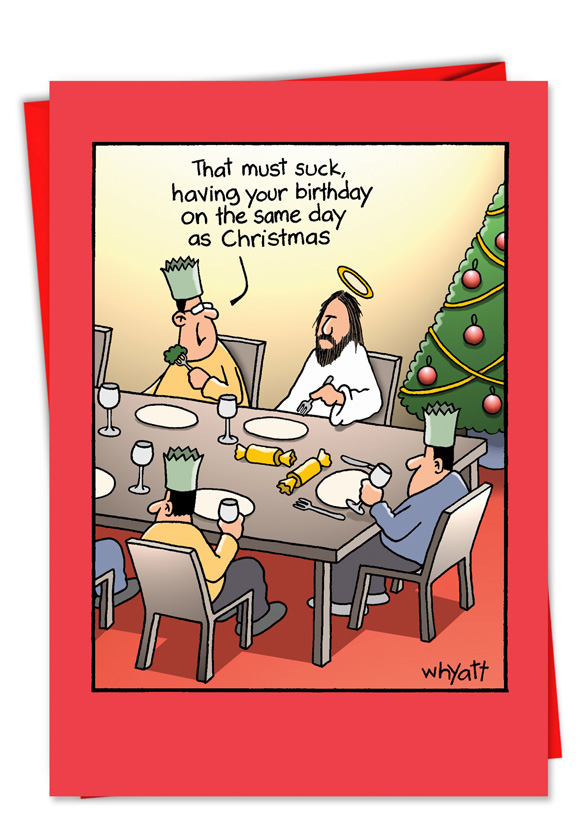 Funny Christmas Paper Card By Tim Whyatt From NobleWorksCards