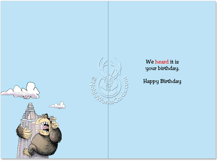 Can you hear me now cartoon birthday joke card humorous birthday greeting card by glenn mccoy from nobleworkscards can you hear me bookmarktalkfo Gallery
