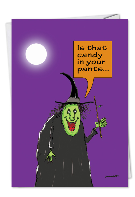candy in your pants halloween funny card by skidmore