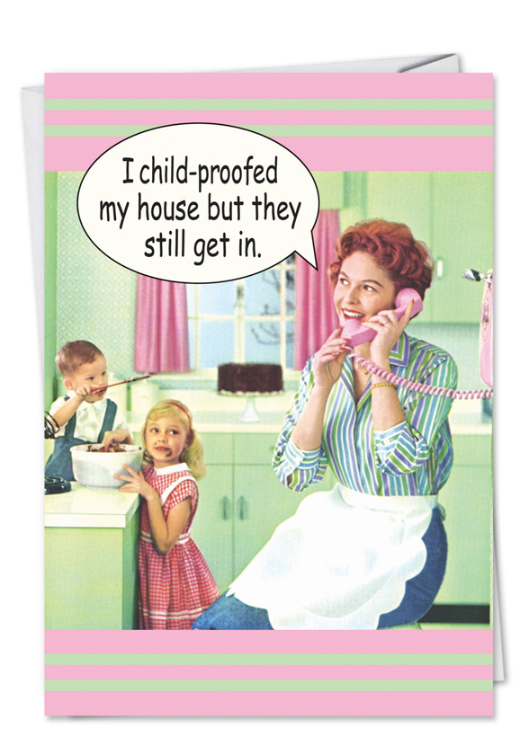 Cant hide from kids mothers funny birthday cardnobleworks humorous birthday mother paper card from nobleworkscards cant hide from kids bookmarktalkfo Choice Image