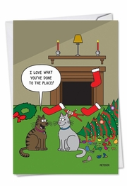 Cat Christmas Decor Card
