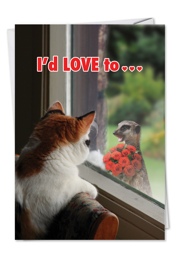 Animal lovers valentine 39 s day funny greeting card nobleworks - Valentine s day animal pics ...