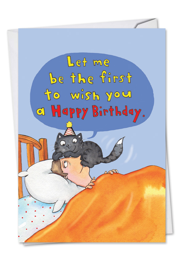 Hysterical Birthday Printed Greeting Card By Scott Nelson From NobleWorksCards