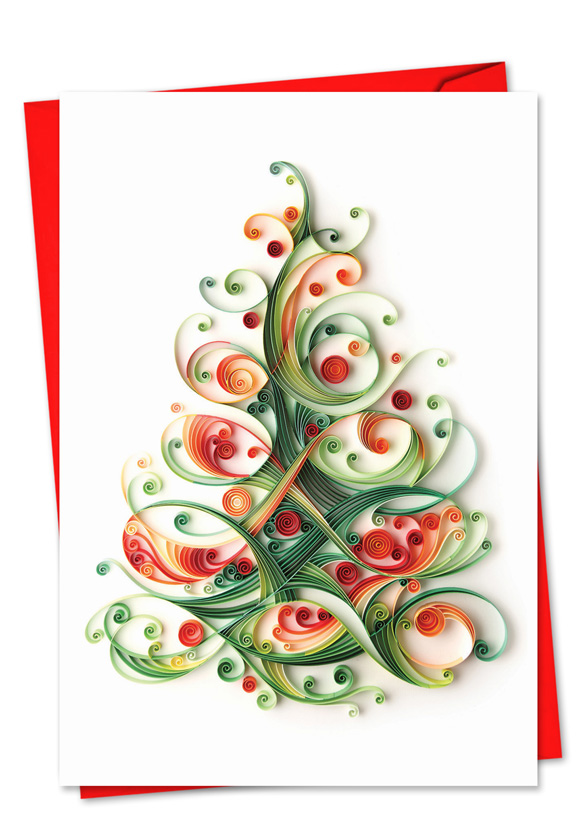 Christmas quilling image nobleworks by design christmas card yulia stylish christmas paper greeting card by yulia brodskaya from nobleworkscards quilling m4hsunfo