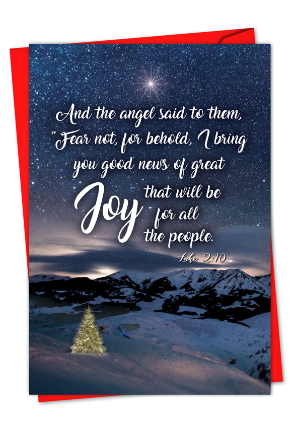 Christmas Quotes Luke 2:10: Stylish Christmas Paper Card