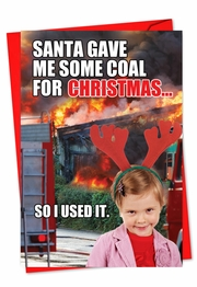 Coal for Christmas Card