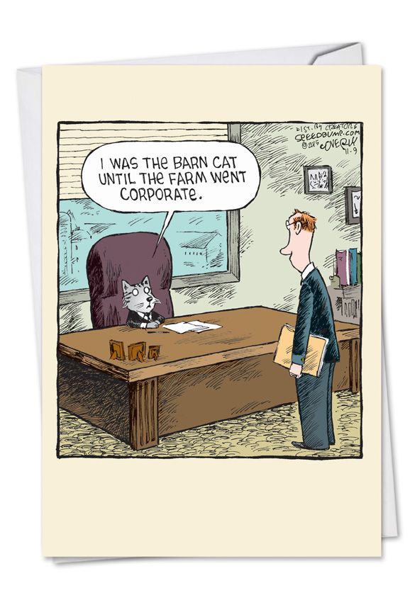 Corporate Cat Cartoons Birthday Card Dave Coverly