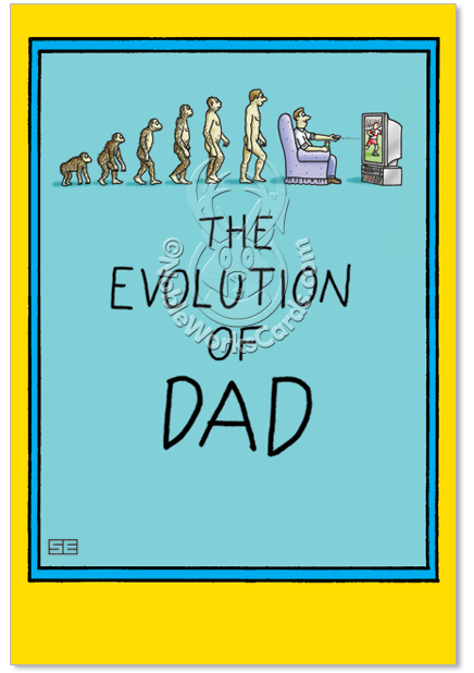 Funny Birthday Cards For Dad From Son And Darwin