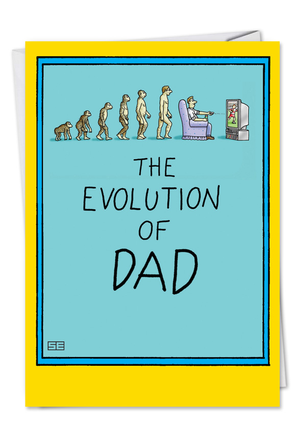 Dad and darwin cartoons birthday father greeting card stan eales hysterical birthday father printed greeting card by stan eales from nobleworkscards dad and m4hsunfo