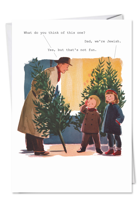Dad Were Jewish Funny Adult Christmas Card