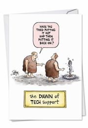 Dawn Of Tech Support Card