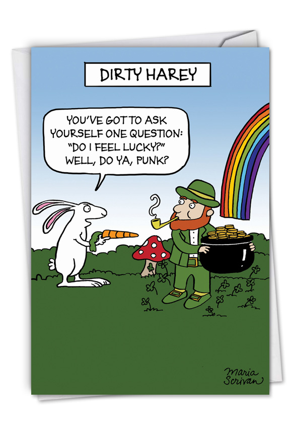 dirty harey funny st patrick s day greeting card nobleworks