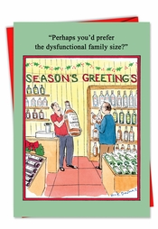 Naughty christmas cards xmas greetings greeting heres to surviving the ones we love seasons greetings m4hsunfo Images