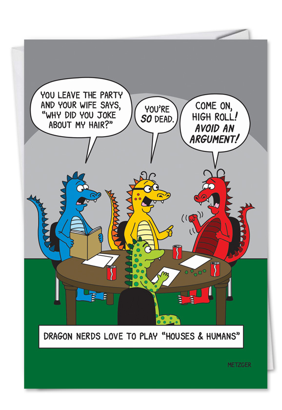 Adult Humor Birthday Greeting Card Dungeons And Dragons