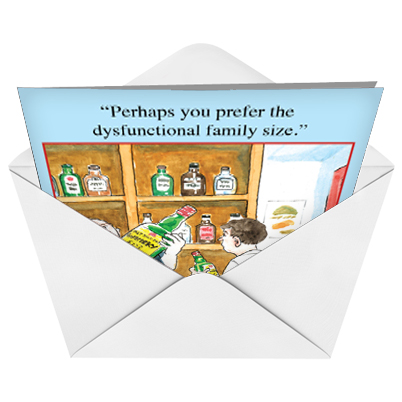 Dysfunctional Family Size Cartoons Birthday Card Nick Downes – Size of Birthday Card