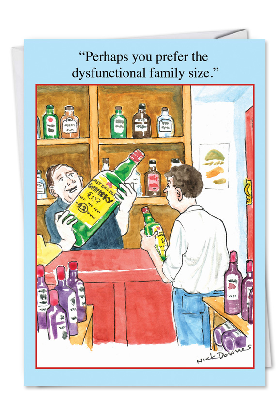 dysfunctional family size cartoons birthday card nick downes