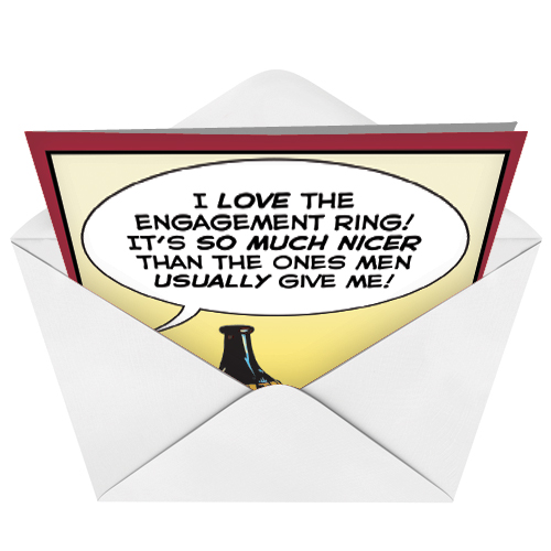 Memes Source · Engagement Ring Cartoons Congratulations Card John Lustig