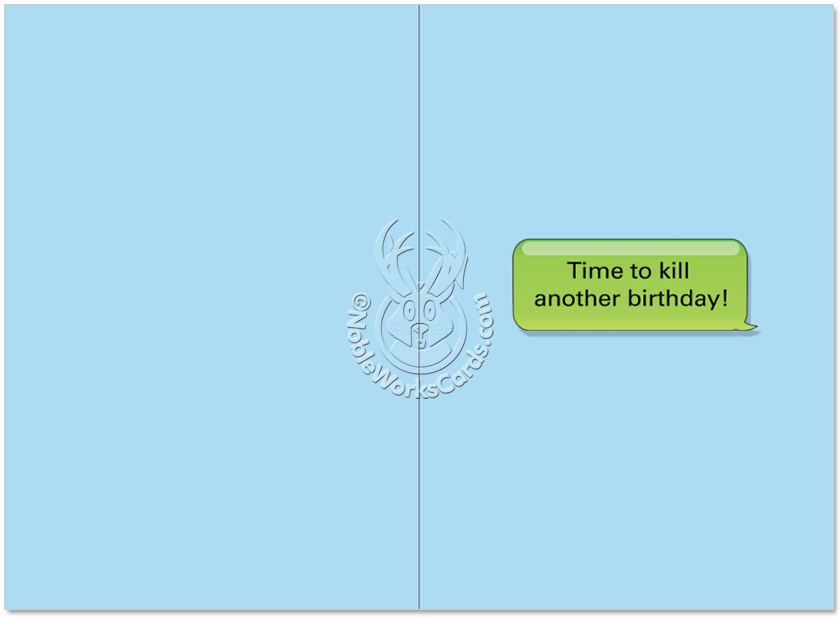Funny Birthday Paper Card From NobleWorksCards