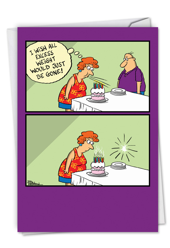 Excess weight cartoons birthday greeting card by bill whitehead hilarious birthday printed greeting card by bill whitehead from nobleworkscards excess weight m4hsunfo