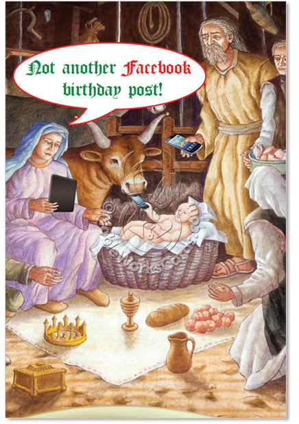 Funny Religious Christmas Cards Christmas Lights Card and Decore – Jesus Birthday Card