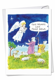 Fake News Angel Card