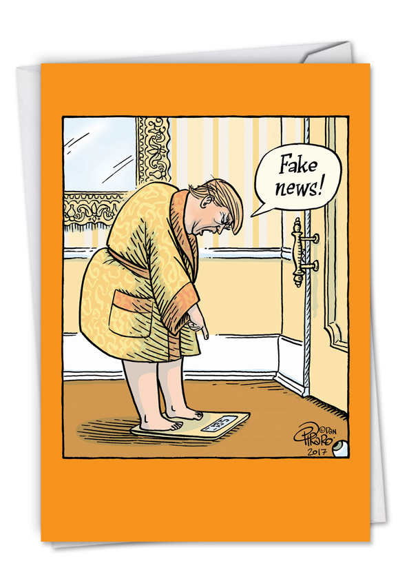 Fake weight cartoons birthday paper card by dan piraro humorous birthday greeting card by dan piraro from nobleworkscards fake weight m4hsunfo