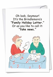 Family Fake News Card