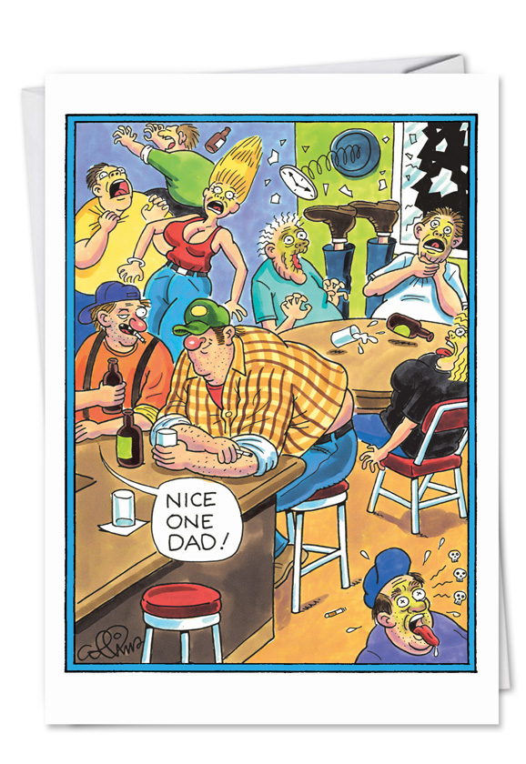 Farting redneck fathers birthday funny cardnobleworks funny birthday father paper greeting card by daniel collins from nobleworkscards farting redneck bookmarktalkfo Choice Image