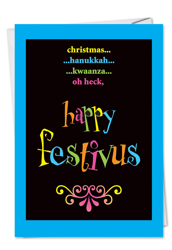 Funny festivus oh heck holiday greeting card humorous christmas printed greeting card from nobleworkscards festivus oh heck m4hsunfo