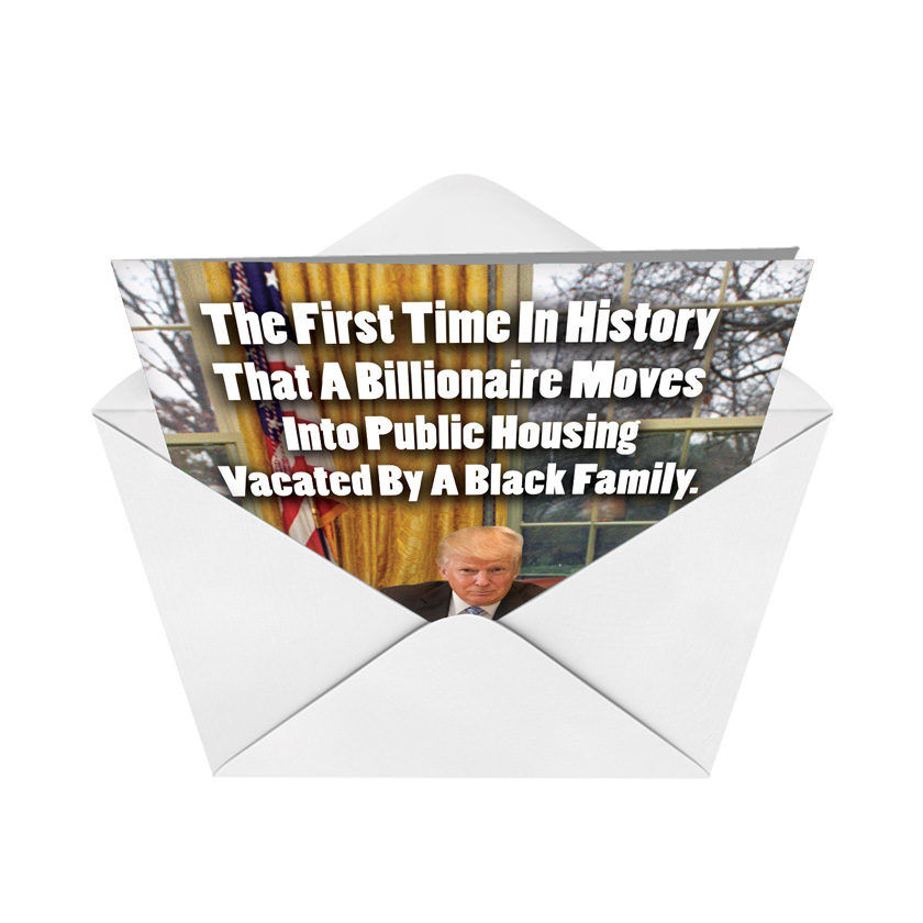 First Time In History Birthday Joke Paper Card
