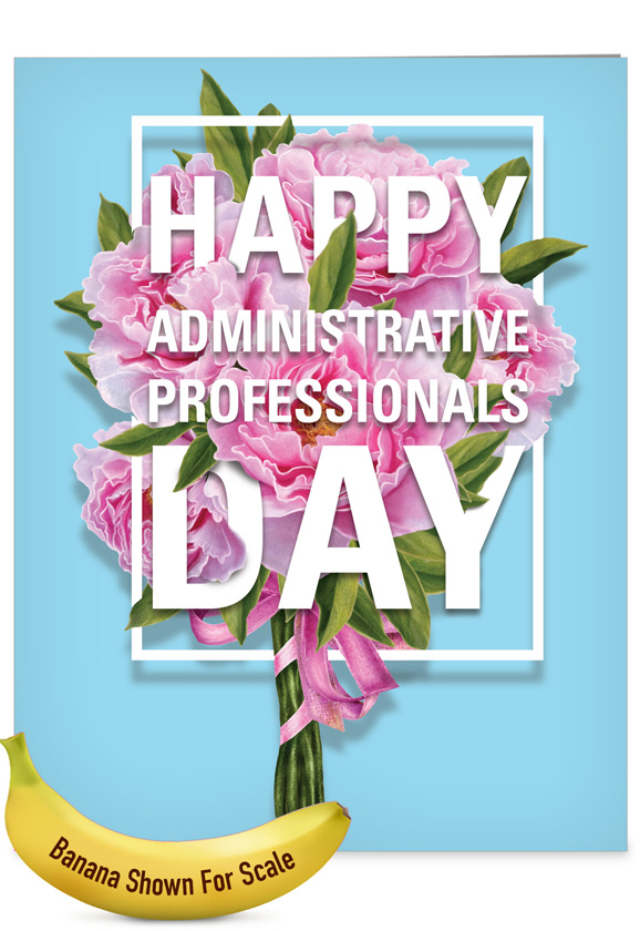 flowers from all administrative professionals day large card