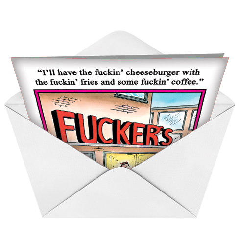 Fuckers restaurant funny rude birthday card funny birthday greeting card by tom cheney from nobleworkscards fuckers image 2 m4hsunfo