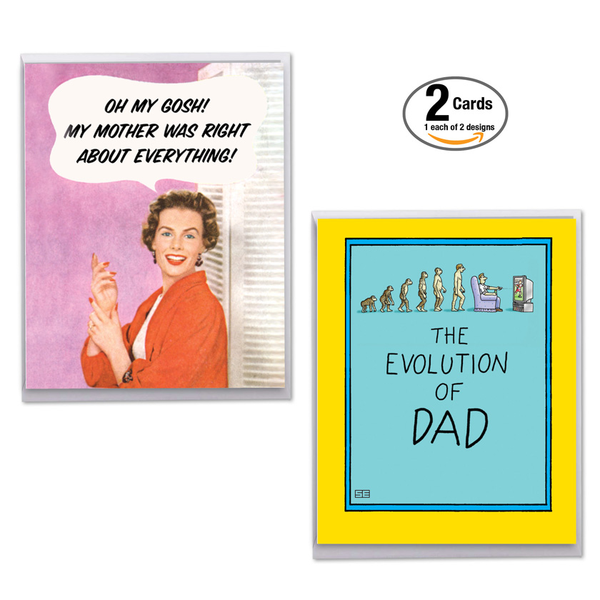 Funny family pack for mom and dad jumbo assortment of cards humorous mixed occasions jumbo paper greeting card by assorted artists from nobleworkscards funny m4hsunfo