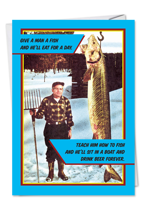 Happy Father's Day Fishing Card - NobleWorksCards.com