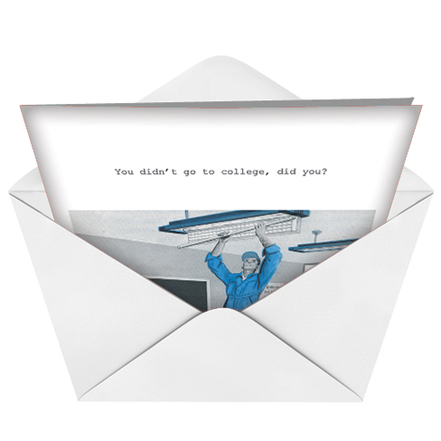 Go To College Adult Funny Graduation Greeting Card Nobleworks