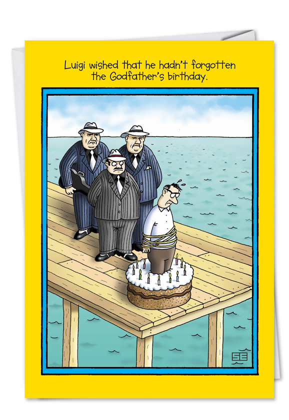Funny Birthday Printed Card By Stan Eales From NobleWorksCards