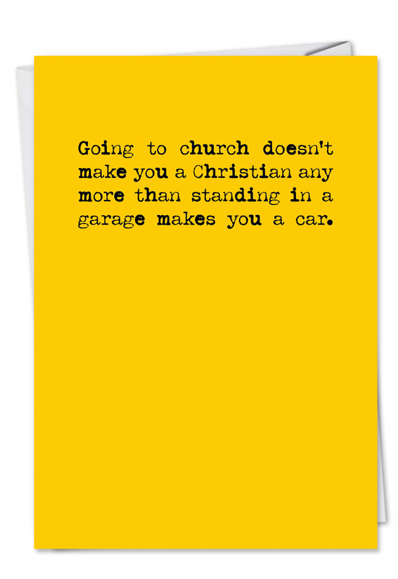 Going To Church Funny Birthday Card