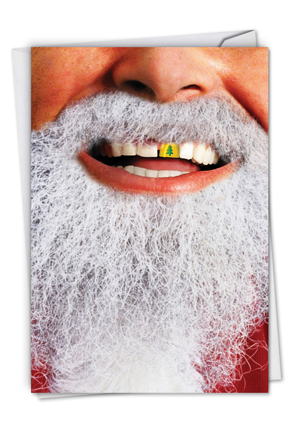 Gold Tooth Santa Christmas Greeting Card|Nobleworks