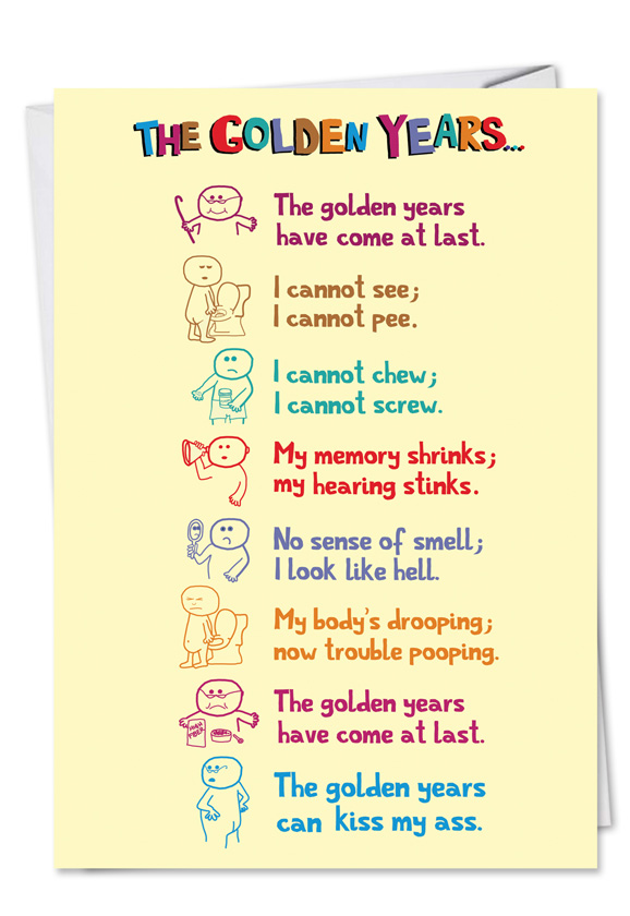 funny golden years birthday card nobleworkscards