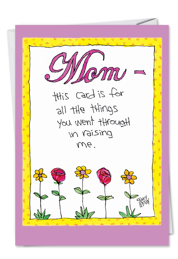 Grateful Child Cartoons Birthday Mother Greeting Card Gary Mccoy – Birthday Card for Child