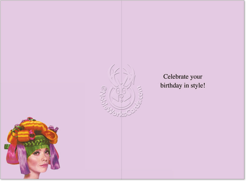 Hair stylist funny birthday greeting cardnobleworks funny birthday paper greeting card by ephemera from nobleworkscards hair stylist image 1 bookmarktalkfo Images