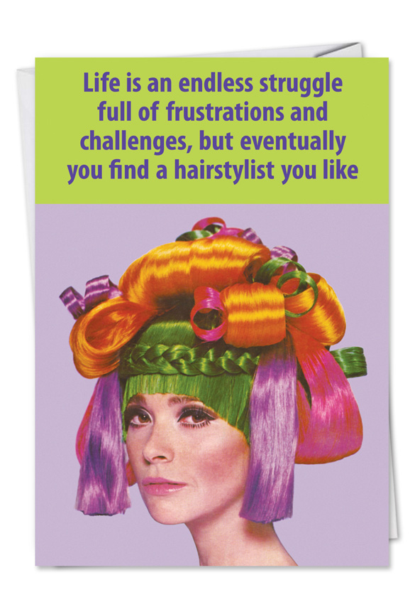 Hair stylist funny birthday greeting cardnobleworks funny birthday paper greeting card by ephemera from nobleworkscards hair stylist bookmarktalkfo Images