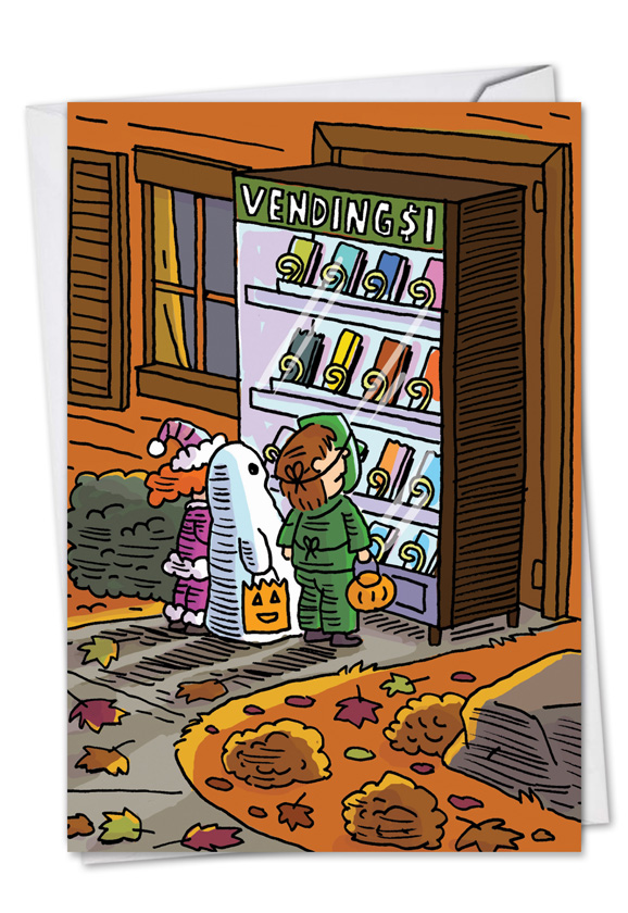 Halloween Vending Machine Card