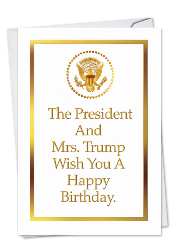 Trump Family Happy Birthday Funny Card Nobleworks