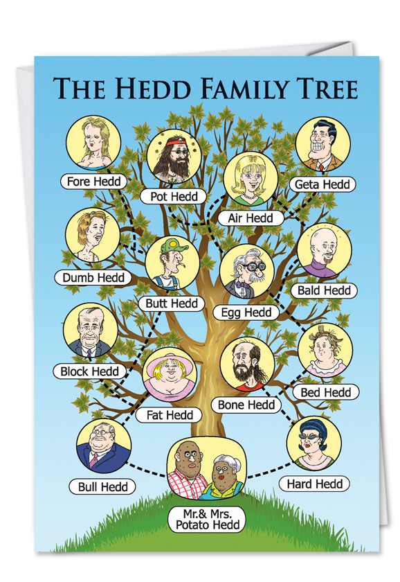 hedd family tree funny dirty card