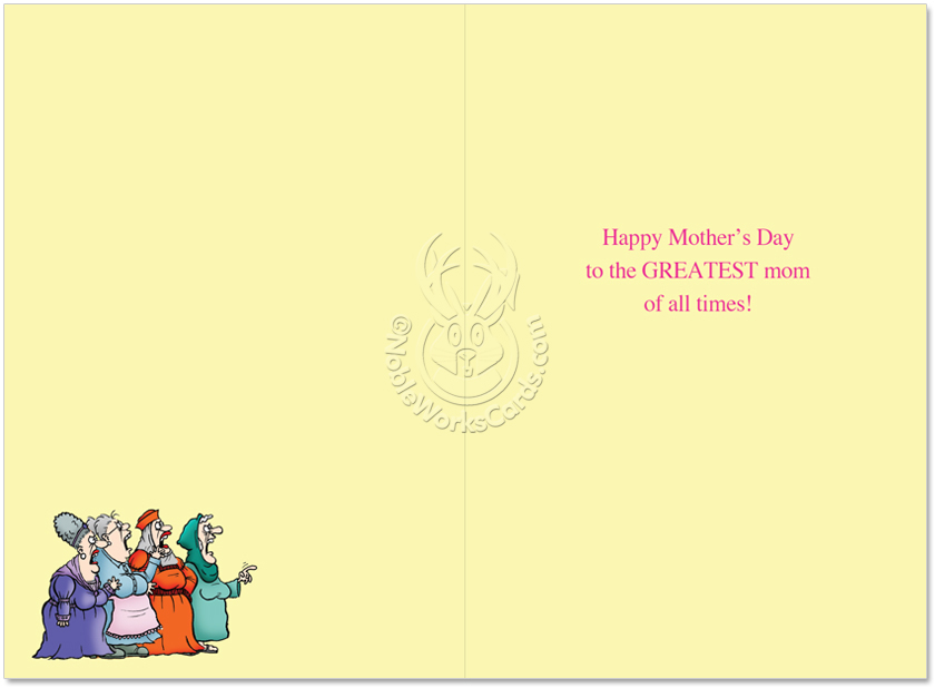 Hilarious Mothers Day Paper Greeting Card From NobleWorksCards
