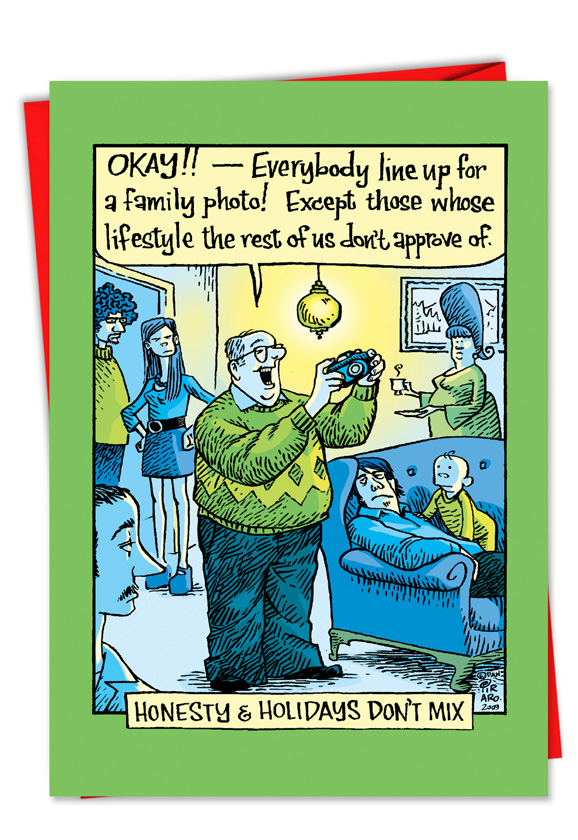 Atheist Hysterical Christmas Greeting Card